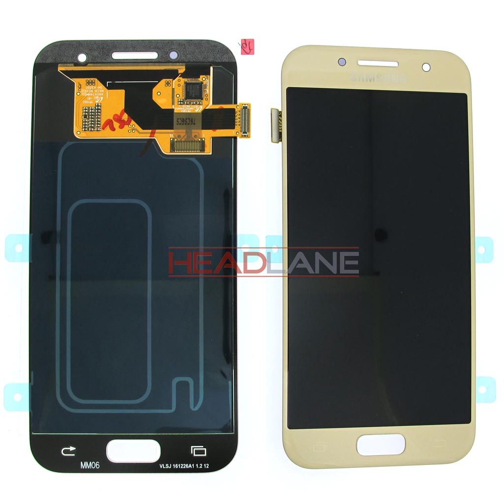 Samsung SM-A320 Galaxy A3 (2017) LCD Display / Screen + Touch - Gold