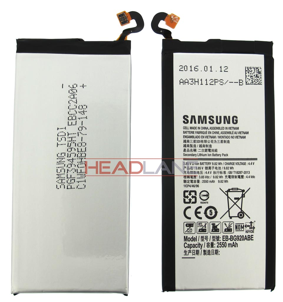 Samsung SM-G920F Galaxy S6 EB-BG920ABE 2550mAh Battery