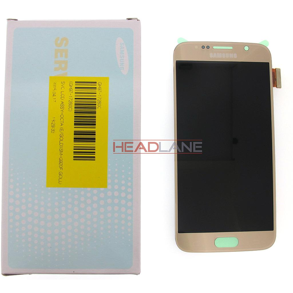 Samsung SM-G920F Galaxy S6 LCD Display / Screen + Touch - Gold