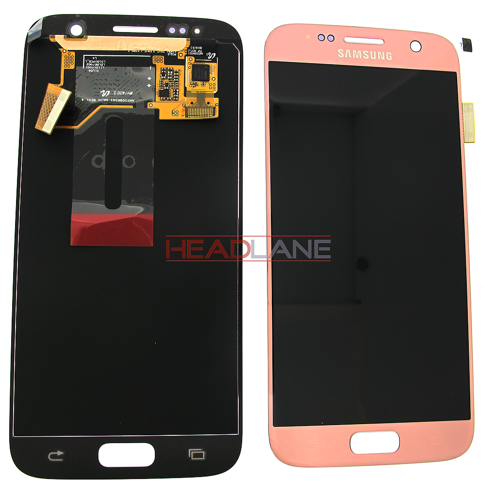 Samsung SM-G930F Galaxy S7 LCD Display / Screen + Touch - Pink Gold