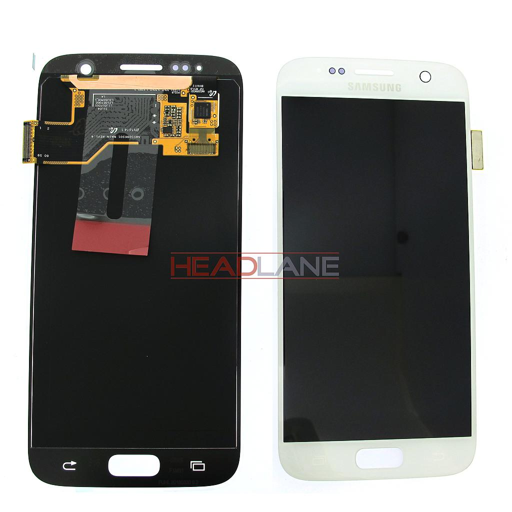 Samsung SM-G930F Galaxy S7 LCD Display / Screen + Touch - White