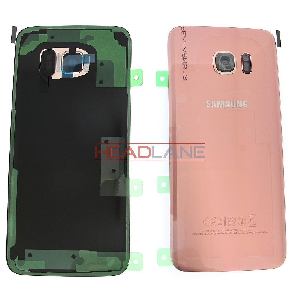 Samsung SM-G935F Galaxy S7 Edge Battery Cover - Pink Gold