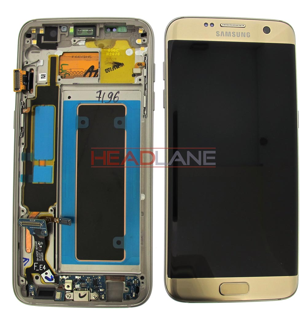 Samsung SM-G935F Galaxy S7 Edge LCD Display / Screen + Touch - Gold