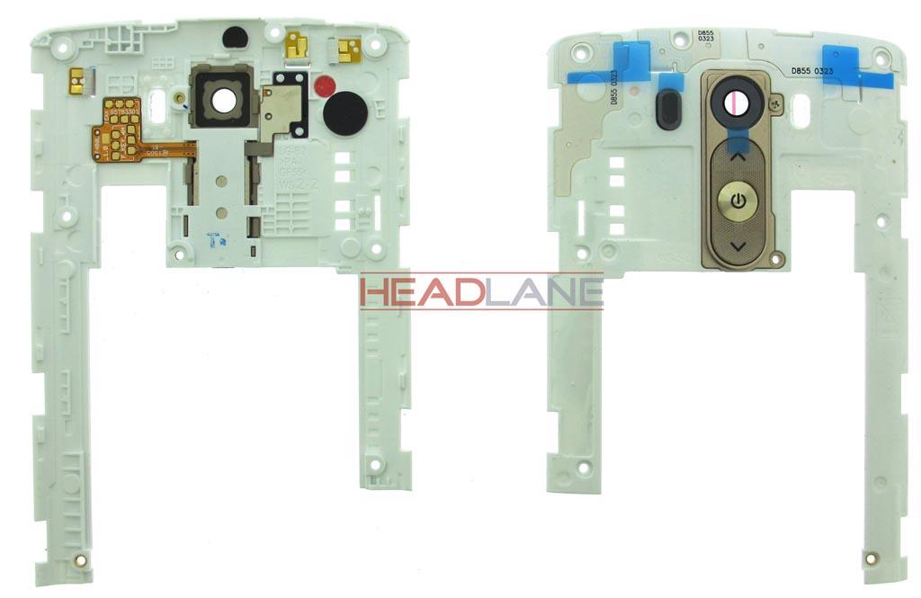 LG D850 D855 G3 Camera Lens + Rear Button - Gold