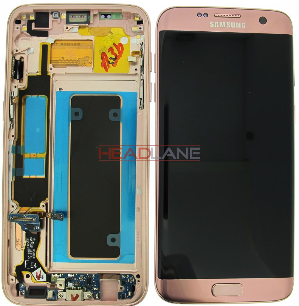 Samsung SM-G935F Galaxy S7 Edge LCD Display / Screen + Touch - Pink Gold