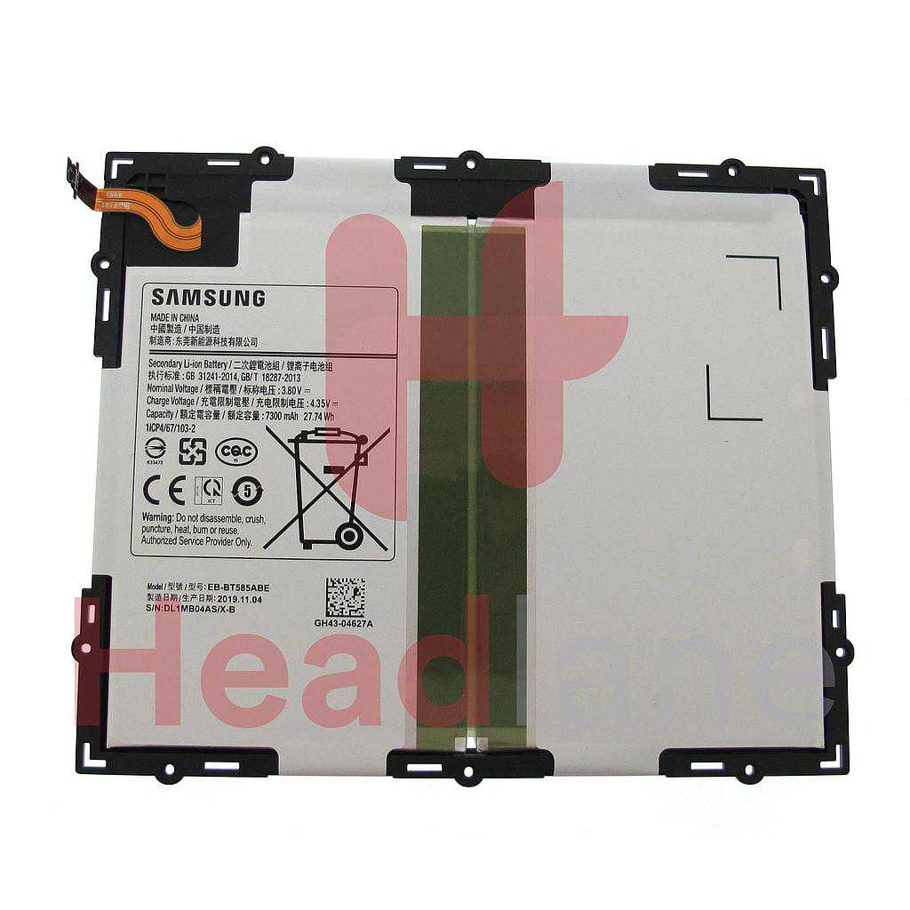 Samsung SM-T585 Galaxy Tab A (2016) 10.1 Internal Battery EB-BT585ABE