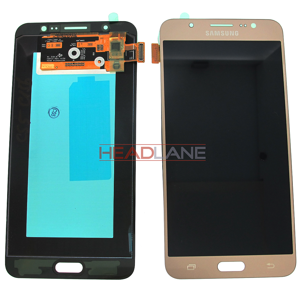 Samsung SM-J710 Galaxy J7 (2016) LCD Display / Screen + Touch - Gold