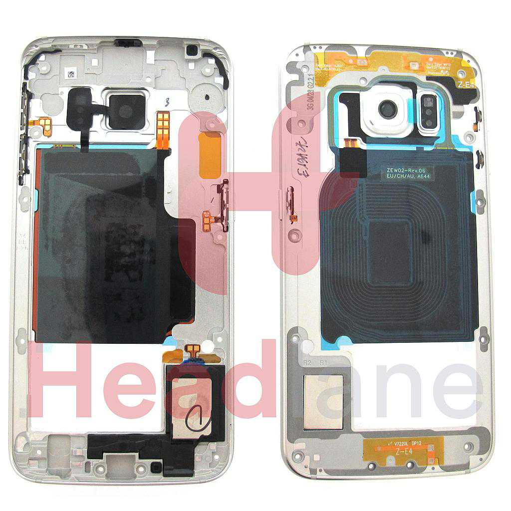 Samsung SM-G925 Middle Cover / Chassis - White