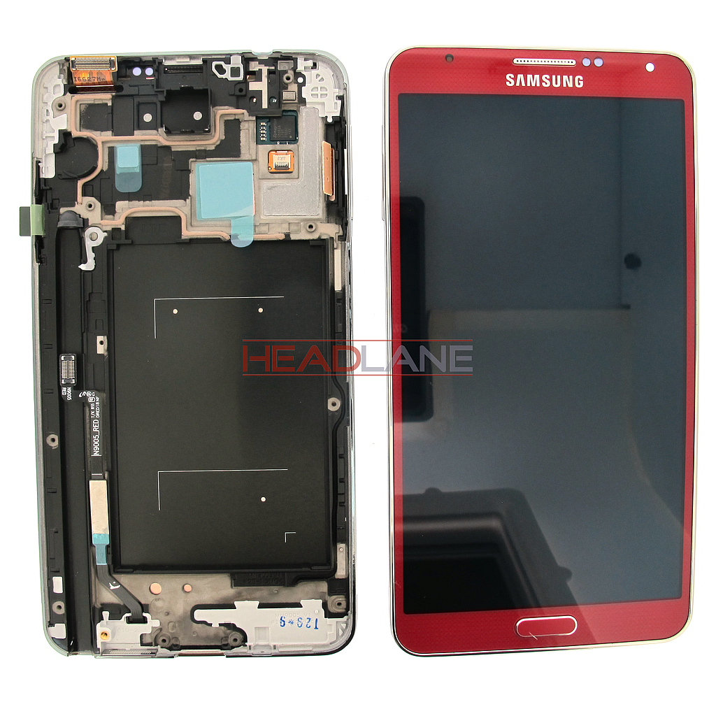 Samsung SM-N9005 Galaxy Note 3 LTE LCD Display / Screen + Touch - Red